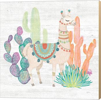 Прекрасные ламы II от Мэри Городское искусство холста Metaverse