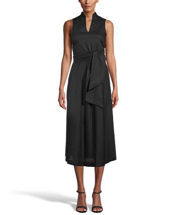 Платье миди с завязками на талии Anne Klein