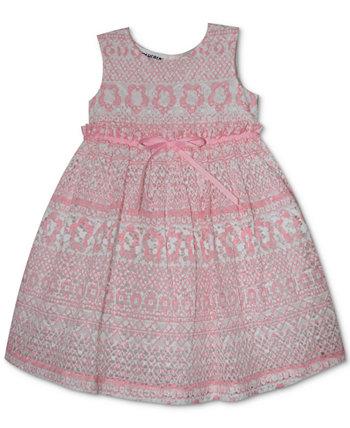 Кружевное платье с принтом для маленьких девочек Blueberi Boulevard