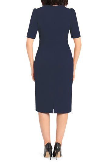 Платье-футляр с рукавами до локтя Donna Morgan