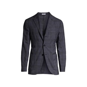 Спортивное пальто из смесовой шерсти Shadow Plaid BOGLIOLI