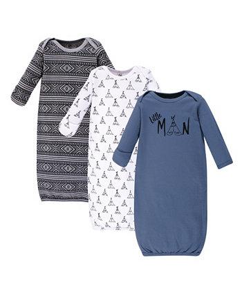 Хлопковые платья Baby Girl, 3 шт. В упаковке Yoga Sprout