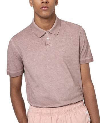 Мужская рубашка-поло стандартного кроя Dansho Hugo Boss, окрашенная в одежду HUGO