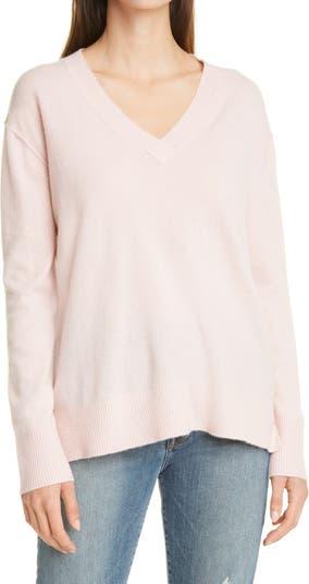 Кашемировый свитер с V-образным вырезом Nordstrom Signature