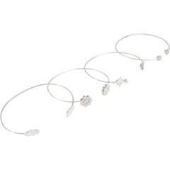 Традиционный набор из 4 браслетов с кристаллами Alex and Ani