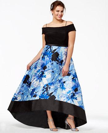 Модное платье большого размера с открытыми плечами Morgan & Company