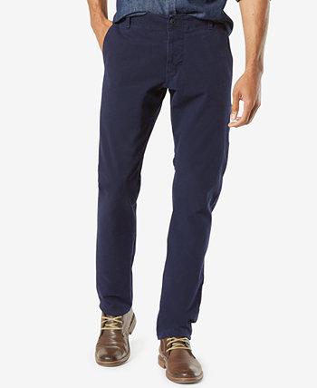 Мужские стрейч-брюки цвета хаки зауженного кроя Alpha Smart 360 Flex Slim Dockers