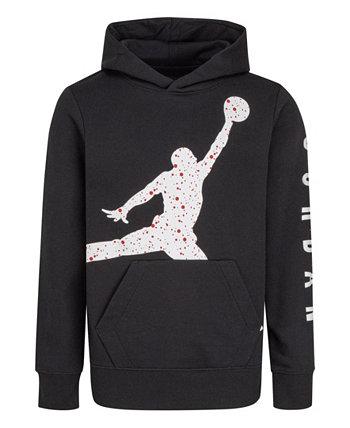 Толстовка с капюшоном из флисового пуловера с принтом в виде пятен для мальчиков и девочек Jordan