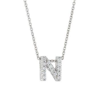 Tiny Treasures, белое золото 18 карат и усиление; Колье Diamond Love Letter-N Roberto Coin