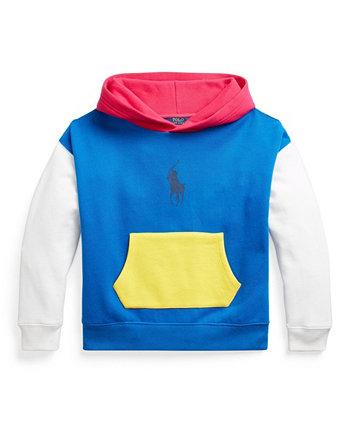 Флисовая толстовка с капюшоном Big Girls с цветными блоками Ralph Lauren