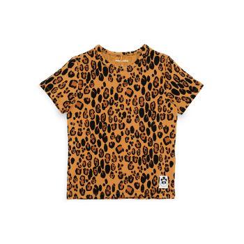 Маленькая девочка & amp; Футболка для девочек с леопардовым принтом Mini rodini
