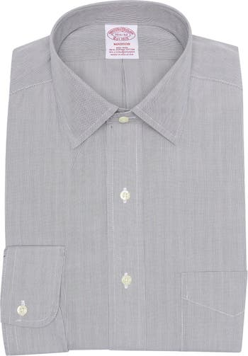 Классическая рубашка Madison Fit в тонкую полоску без железа Brooks Brothers