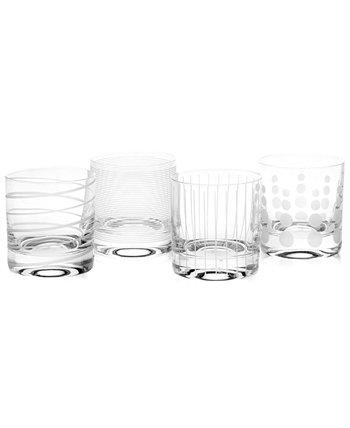 Двойные старомодные очки Clear Cheers, набор из 4 штук MIKASA