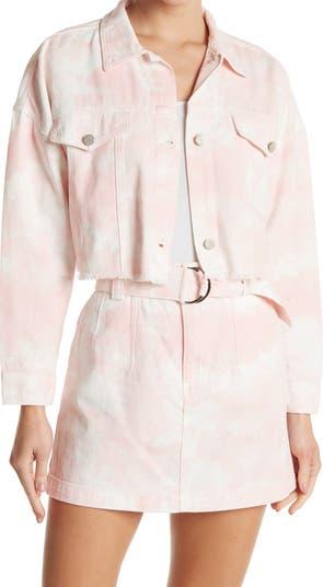 Укороченная куртка с принтом тай-дай Elodie
