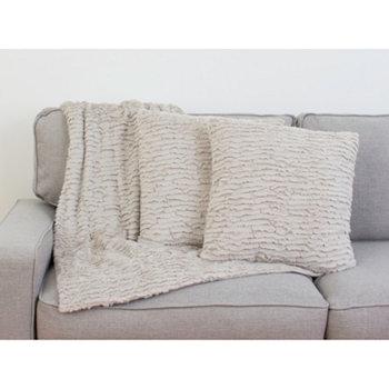 Набор подушек и декоративных пледов Rachel с оборками, 2 шт. В упаковке THRO