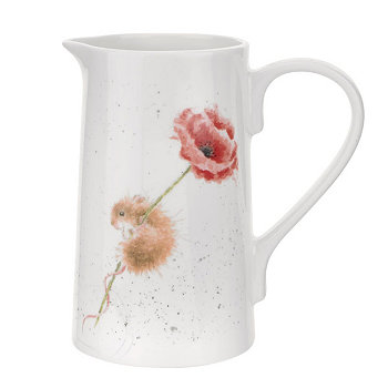 """Wrendale Mouse Pitcher, """"Мышь и мак"""" Royal Worcester"""