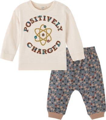 Положительно заряженный комплект футболки и штанов с графическим рисунком PEEK ESSENTIALS