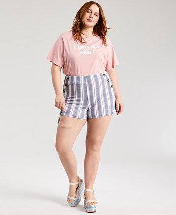 Модные шорты больших размеров с принтом Derek Heart