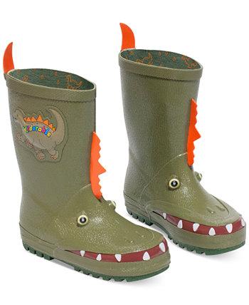 Ботинки дождя для динозавров для маленьких мальчиков Kidorable