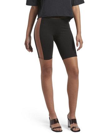 Велосипедные шорты из искусственной кожи KENDALL + KYLIE