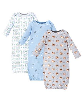 Хлопковые платья для маленьких девочек, 3 комплекта Wild и бесплатно Luvable Friends