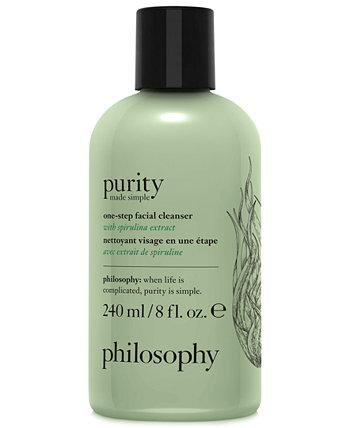 Одноэтапное очищающее средство для лица Purity Made Simple с экстрактом спирулины Philosophy