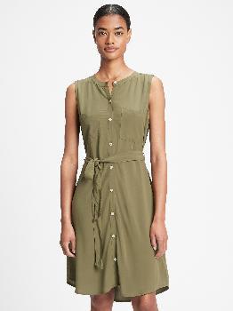 Платье-рубашка без рукавов Gap Factory