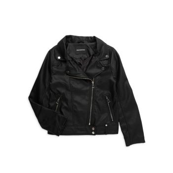 Girl's Faux Leather Biker Jacket Urban Republic