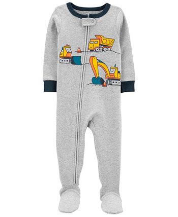 Пижама из хлопка с плотной подошвой для маленьких мальчиков Carter's