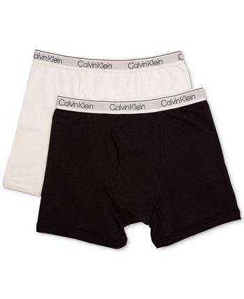 2-Рк. Хлопковые трусы-боксеры, маленькие и большие мальчики Calvin Klein