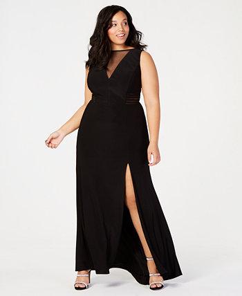 Модное платье в крупную сетку Morgan & Company