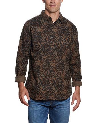 Мужская тканая рубашка с принтом листьев Weatherproof Vintage