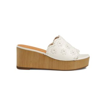 Rory Floral Leather Wedge Sandals Jack Rogers