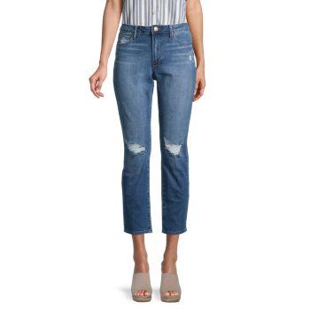 Рваные укороченные джинсы с высокой посадкой Renee Articles of Society