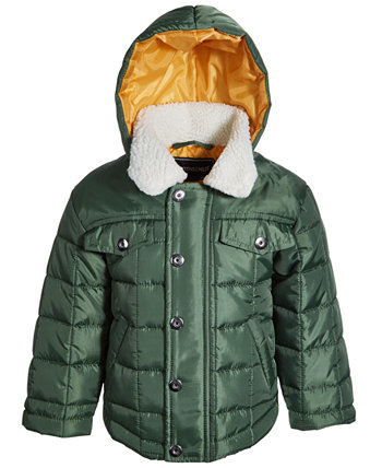Baby Boys Quilted Jacket with Hood S Rothschild & CO