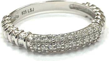 Покрытое серебром кольцо с паве из кубического циркония - размер 7 Liza Schwartz