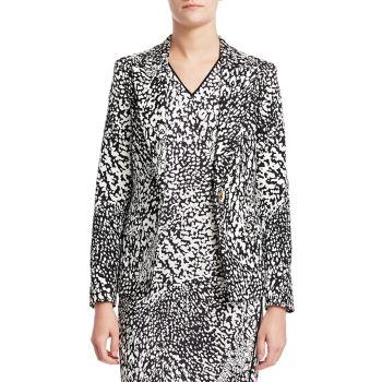 Куртка Bikenati с абстрактным леопардовым принтом ESCADA