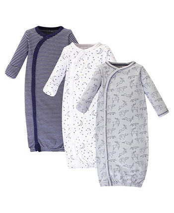 Baby Girl органическое платье кимоно 3-Pack Touched by Nature
