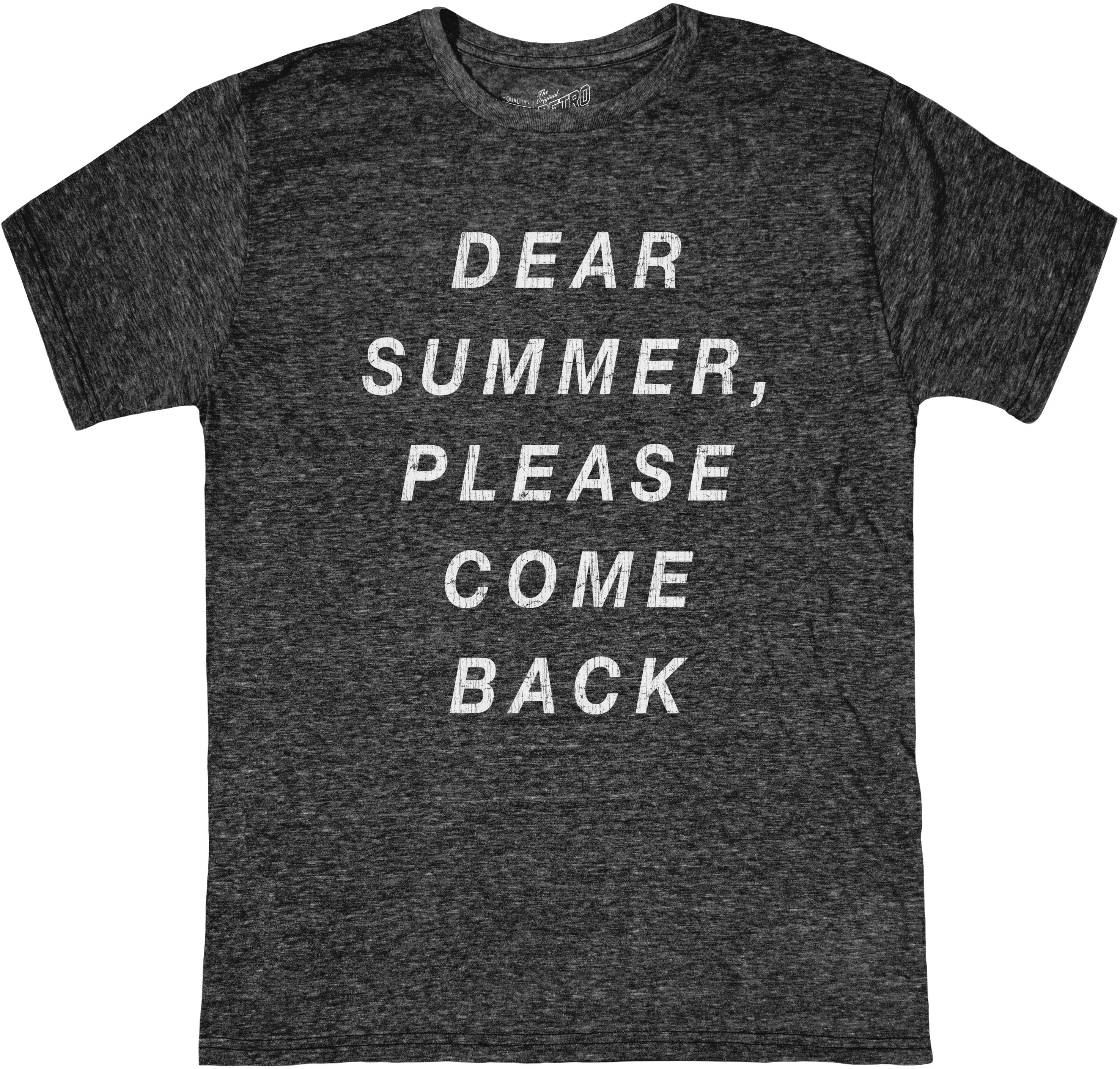 Tri-Blend Футболка Dear Summer Please Come Back (Big Kids) The Original Retro Brand Kids