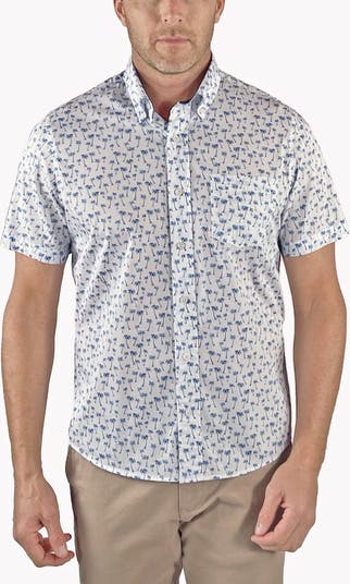 Эластичная рубашка с короткими рукавами и пуговицами спереди Performance Tailor Vintage