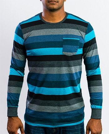 Мужская повседневная комфортная футболка с длинным рукавом с круглым вырезом BEAUTIFUL GIANT