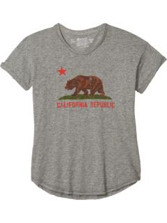 Рулонный с коротким рукавом Mocktwist Vintage California Republic Bear (Big Kids) The Original Retro Brand Kids