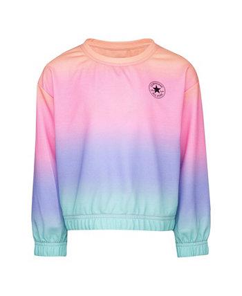 Мягкий и легкий вязаный свитшот Hacci Rainbow для больших девочек Converse