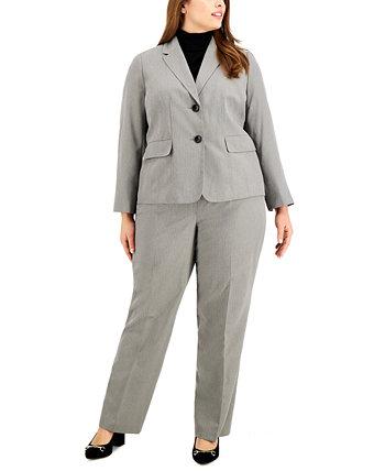 Брючный костюм больших размеров с рисунком в елочку Le Suit