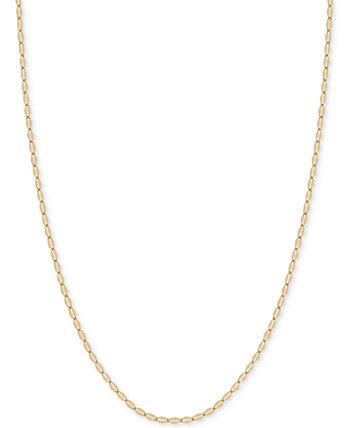 20-дюймовое плоское колье с цепочкой (1-9 / 10 мм) из 14-каратного золота Italian Gold