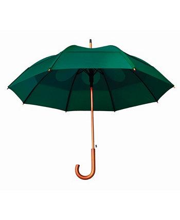 Ветрозащитный автооткрытый зонт с J-образной ручкой GUSTBUSTER