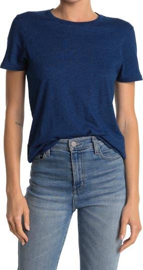 Хлопковая футболка с круглым вырезом ALEX MILL