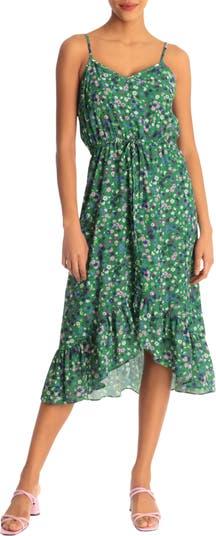 Strappy V-Neck Hi-Lo Midi Dress Donna Morgan