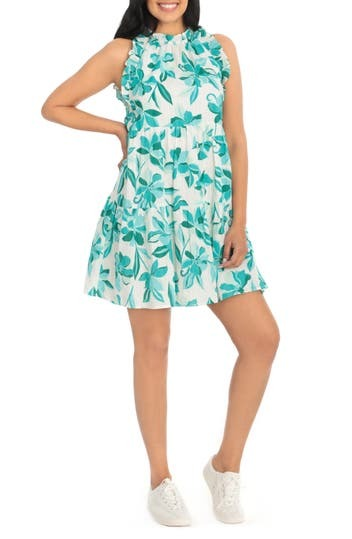 Floral Ruffle Tiered A-Line Mini Dress London Times