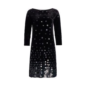 Бархатное платье с пайетками Joan Vass